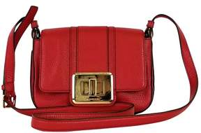 Michael Kors Red Leather Crossbody Bag - RED - STYLE