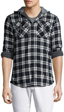Globe Men's Alford Checkred Hooded Sportshirt