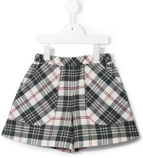 Familiar plaid print shorts
