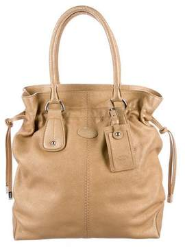 Tod's Metallic Leather Tote