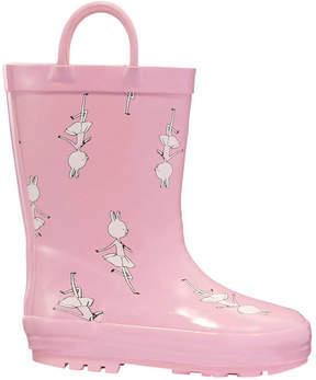 Joe Fresh Toddler Girls' Lined Rain Boots, Pink (Size 7)