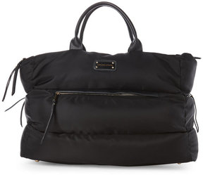 Adrienne Vittadini Black Quilted Duffel