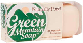 Smallflower All Vegetable Soap - Unscented by Green Mountain Soap (4.25oz Bar)