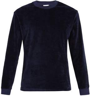 Fanmail Crew-neck cotton-velour sweatshirt
