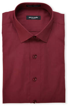 Pierre Cardin Burgundy Slim Fit Dress Shirt