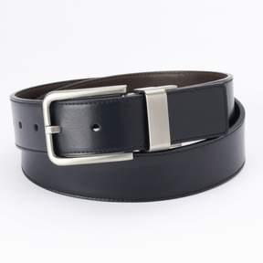 Apt. 9 Men's Black Cut-Edge Stitched Reversible Belt