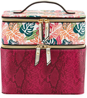 Neiman Marcus Train Combo Tropical-Print Case, Multi