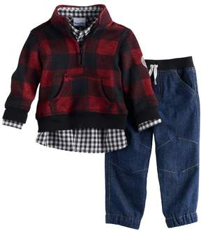 Nannette Baby Boy 3-pc. Plaid Pullover Sweater