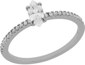 Crislu Prong Set Marquise Cut CZ & Pave Stackable Ring