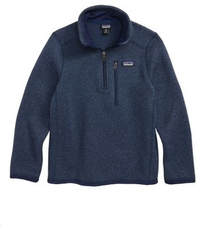 Patagonia Boy's Better Sweater Quarter Zip Pullover