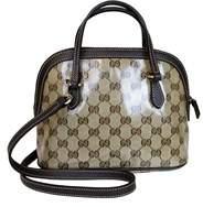 Gucci Mini Dome Crystal Convertible Crossbody Satchel Bag. - BEIGE/EBONY - STYLE