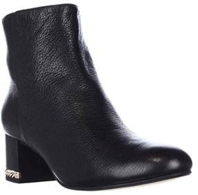 Michael Kors Sabrina Mid Chain Heel Booties, Black.