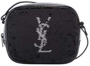 Saint Laurent Blogger Monogram Sequin Bag - BLACK - STYLE