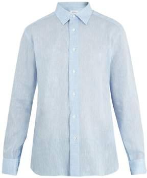 Brioni Point-collar single-cuff linen shirt