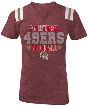 5th & Ocean San Francisco 49ers Heart Football T-Shirt, Girls (4-16)