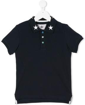 Macchia J Kids star embroidered polo shirt