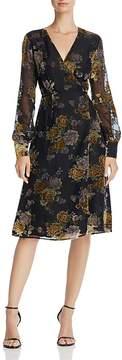 Astr Sonya Burnout Wrap Dress