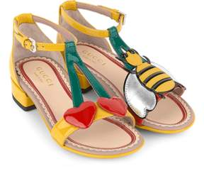 Gucci Cherry patent leather sandals