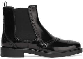 Tod's Glossed-leather Chelsea Boots - Black