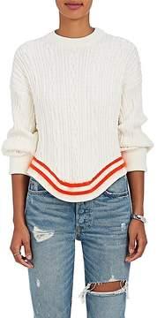Esteban Cortazar Women's Striped-Hem Cable-Knit Sweater