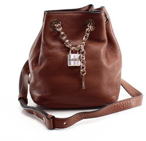 Michael Kors Brown Luggage Leather Hadley Messenger Bag Purse - BROWNS - STYLE