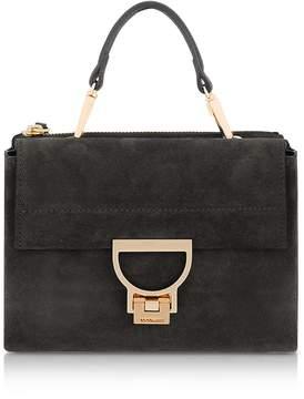 Coccinelle Black Suede Arlettis Mini Bag w/Shoulder Strap