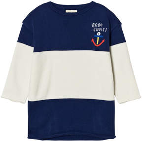 Bobo Choses Blue and White Bicolour Knitted Dress
