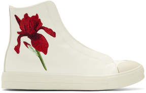 Alexander McQueen Off-White Iris High-Top Sneakers