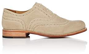 Grenson MEN'S WILLIAM SUEDE WINGTIP BALMORALS
