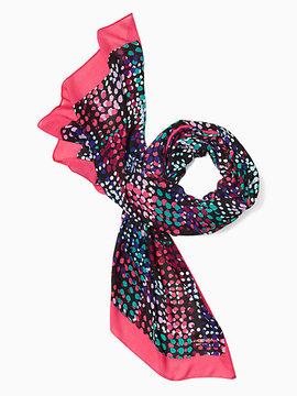 Multi dot oblong scarf