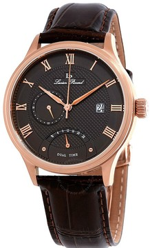Lucien Piccard Volos Retrograde Dual Time Men's Watch 10339-RG-014-BRW