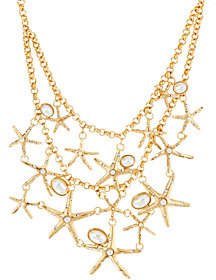 C. Wonder 19 Layered Rolo Link Chain Starfish Necklace