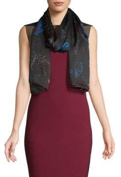 Valentino Space-Print Silk Stole