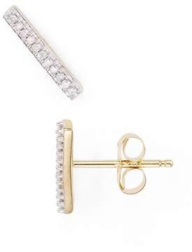 Adina Diamond Pavé Bar Stud Earrings