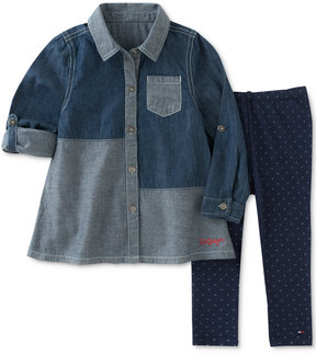 Tommy Hilfiger 2-Pc. Denim Shirt & Leggings Set, Toddler Girls (2T-5T)