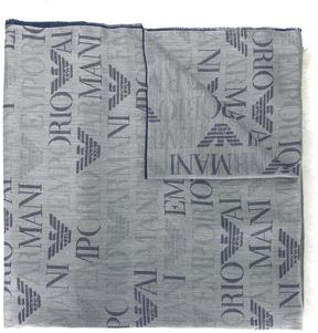 Emporio Armani logo pattern scarf