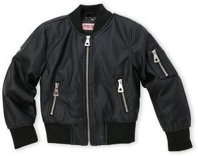 Urban Republic Girls 7-16) Faux Leather Bomber Jacket