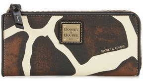 Dooney & Bourke Serengeti Collection Giraffe-Print Zip Clutch - GIRAFFE/BLACK - STYLE
