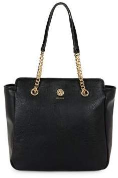 Anne Klein Chain Leather Shopper Tote
