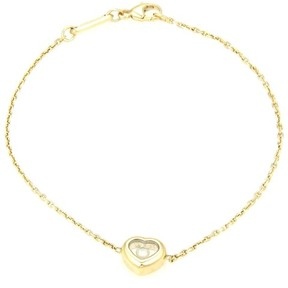 Chopard Happy Diamonds 18k Y/Gold Floating Diamond Heart Charm Bracelet