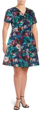 Alexia Admor Floral-Print Fit-&-Flare Dress