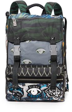 Kenzo Nylon Print Backpack