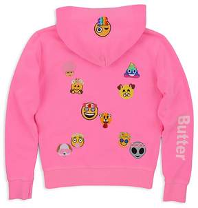 Butter Shoes Girls' Snapchat Emoji Patch Hoodie - Big Kid