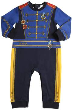 Dolce & Gabbana Military Printed Cotton Interlock Romper