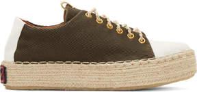 Visvim Brown Prima Folk Sneakers