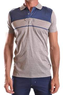 CNC Costume National Men's Grey Cotton Polo Shirt.