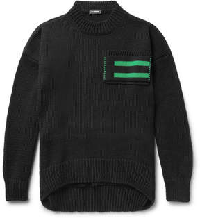 Raf Simons Oversized Striped Wool Sweater