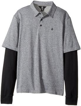 Volcom Wowzer Twofer Polo Boy's Long Sleeve Pullover