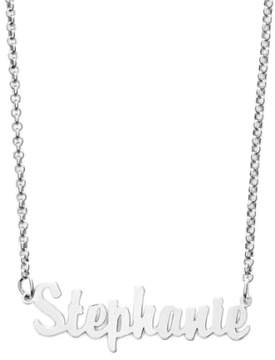 Argentovivo Women's Personalized Script Name Necklace