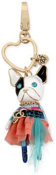 Betsey Johnson Gold-Tone Tutu Dog Keychain